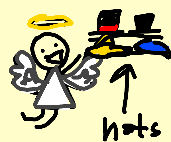 Angel with a hat collection