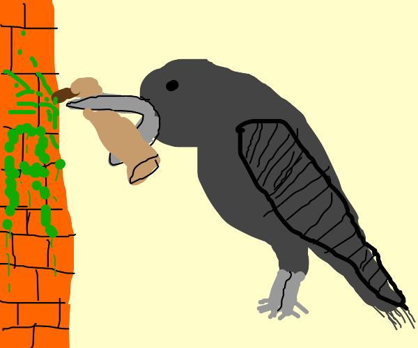 Graffiti Raven