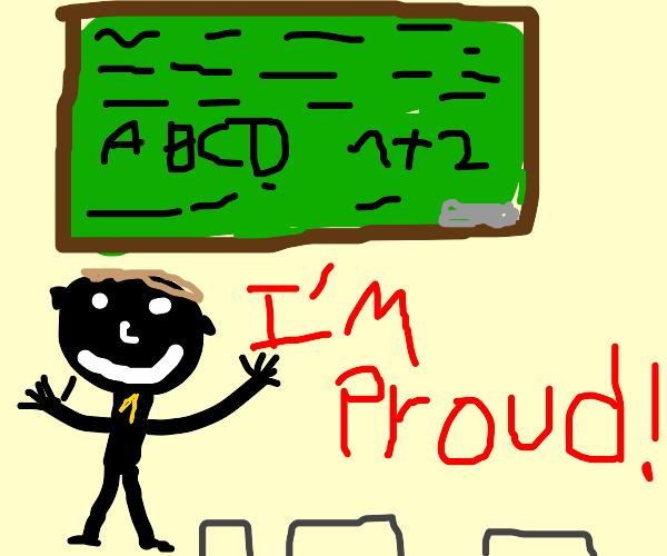 #1 teacher is proud