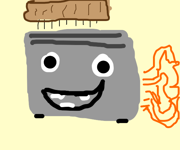 Farting toaster head