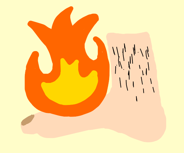 Foot on Fire