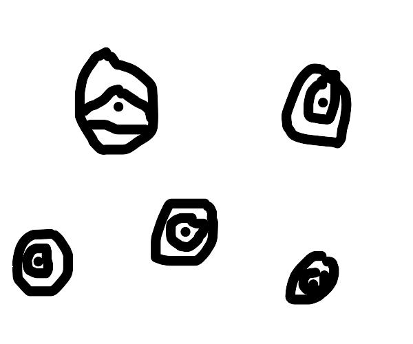 A lot of eyes