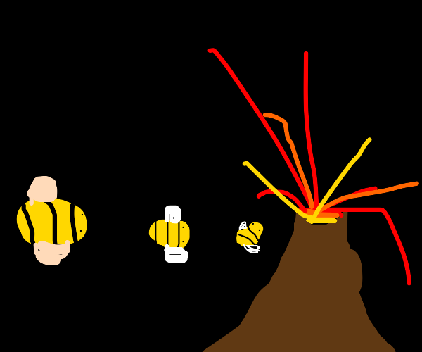 The bee agenda involves active volcanoes