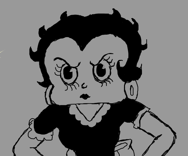 Grumpy Betty Boop