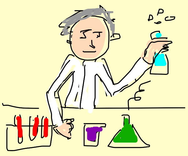 Chemist Researching