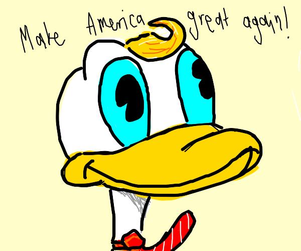 Donald Duck as Donald Trump