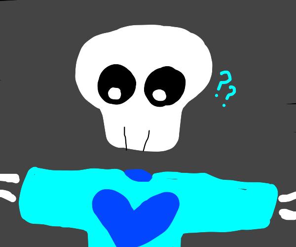 Skull wearing a T-Shirt
