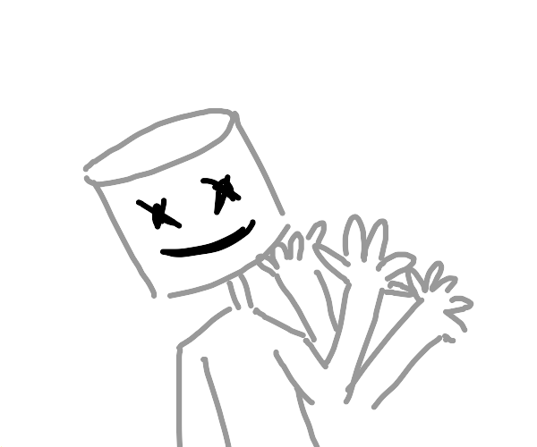 Marshmallow person waves