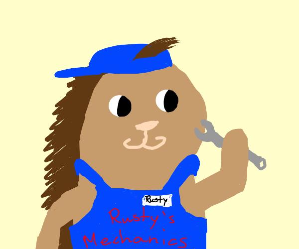 Rusty, the mechanic porcupine