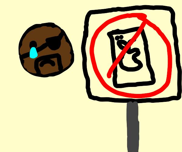 Emoji Nick Fury cries at no iPhone sign