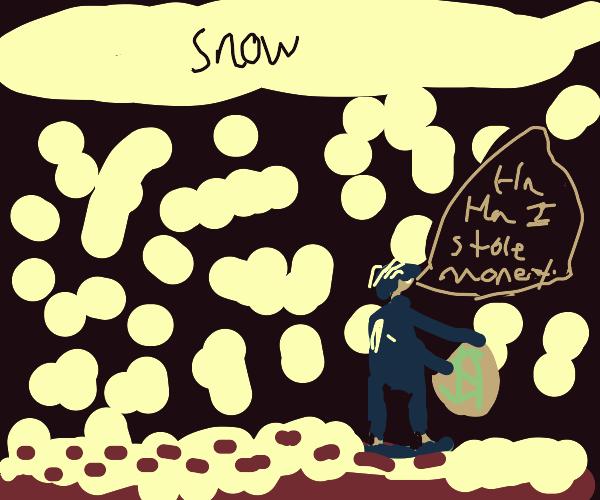 Burglar in a Snowstorm