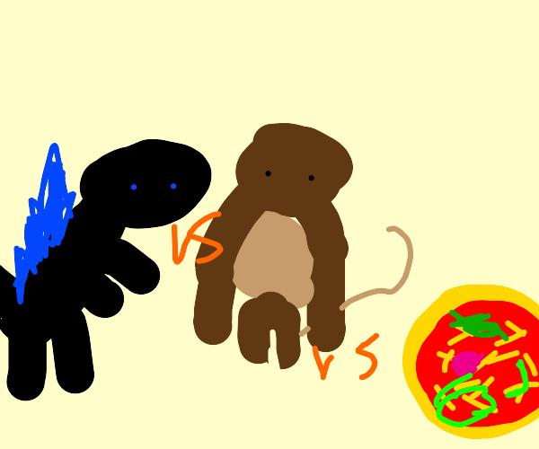 Godzilla vs Kong vs Pizza