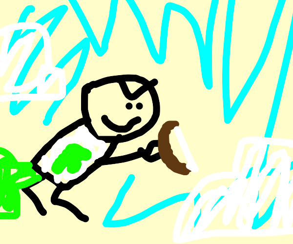 Farty Dude Flys into the Sky with a Bow