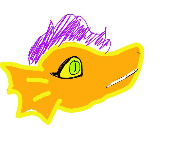 Beautiful Yellow Dragon