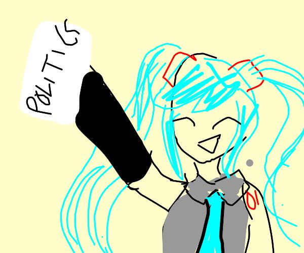 Hatsune Miku gets political