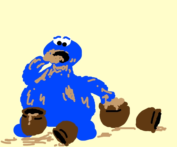 Cookie Moster is an Cookiedough Junkie