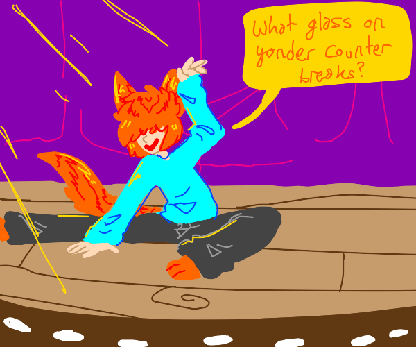 a cat boy quotes shakespeare with a twist