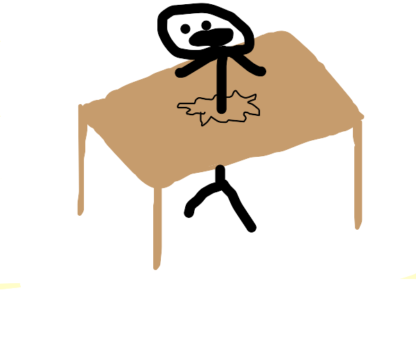 weird people stuck in tables?
