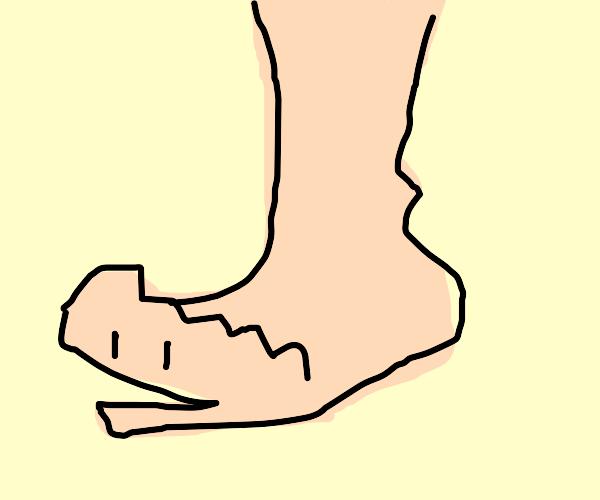 Foot is like :v and w/ big toe