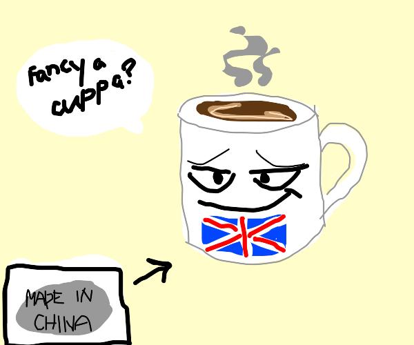 mug full of coffee assumes it's british.