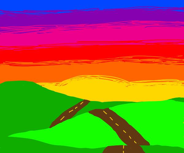 A beautiful country sunset