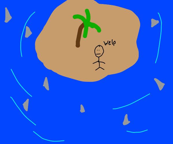 Dangerous desert island