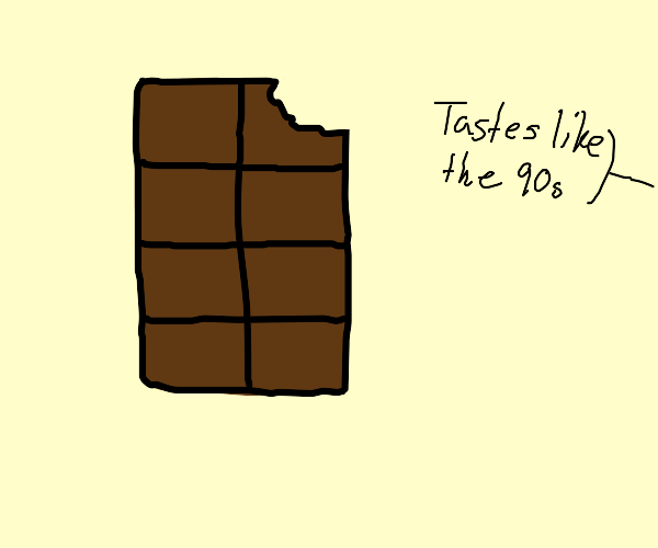 Chocolate bar tastes like the 90s
