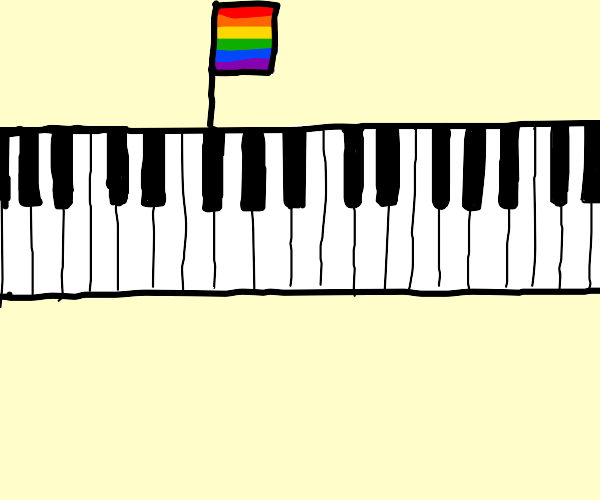 Piano supportive of LGBT rights