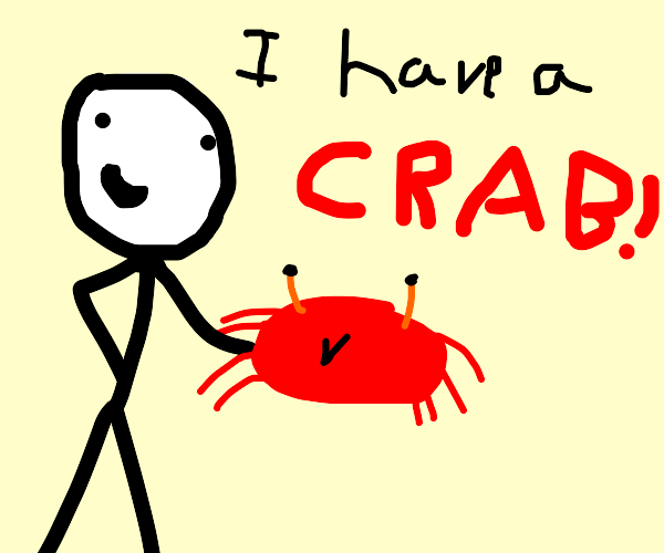 Proud owner of a crab