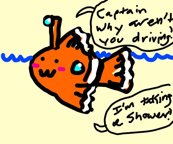 submarine that looks like a cute fish