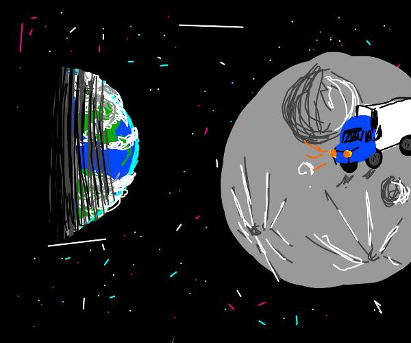 Truck on the Moon