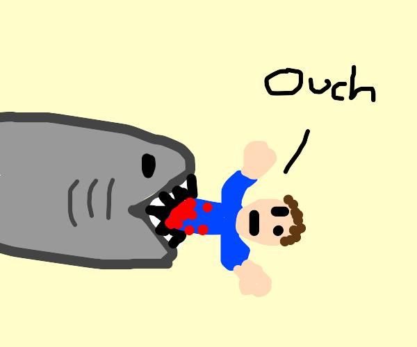 Man brutally bring eat by shark