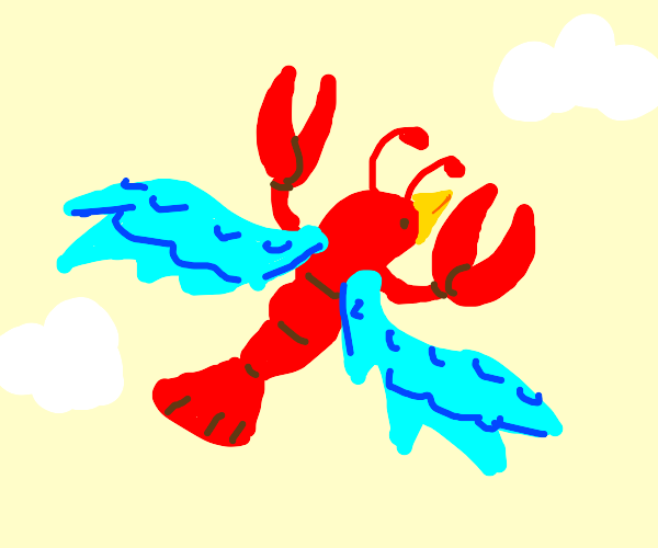Blobster (bird lobster) ascends