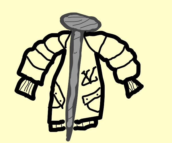 Nail wearing a Coat