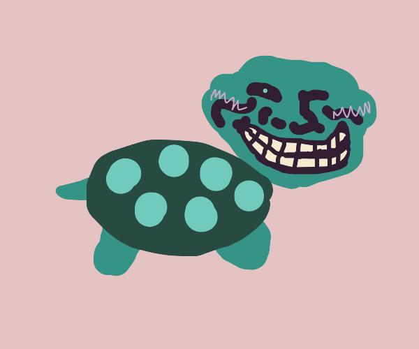 cute trollface turtle