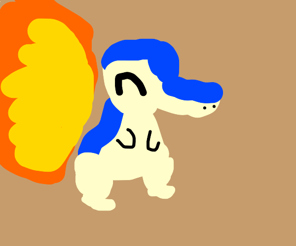 Cyndaquil has a BIG flame