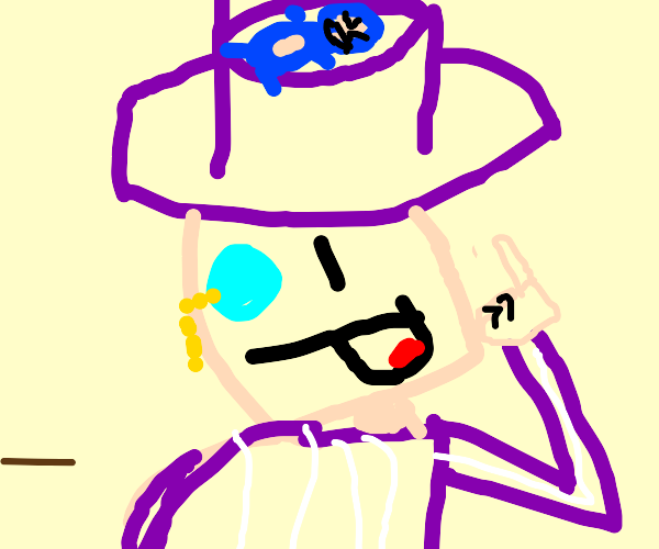 Snorlax on a guy's purple top hat
