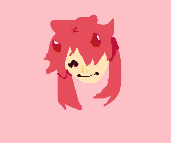 red demon anime girl