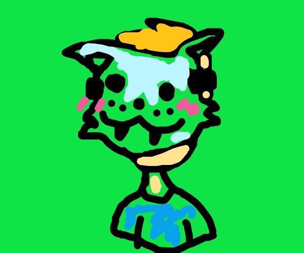 Cat furry mask