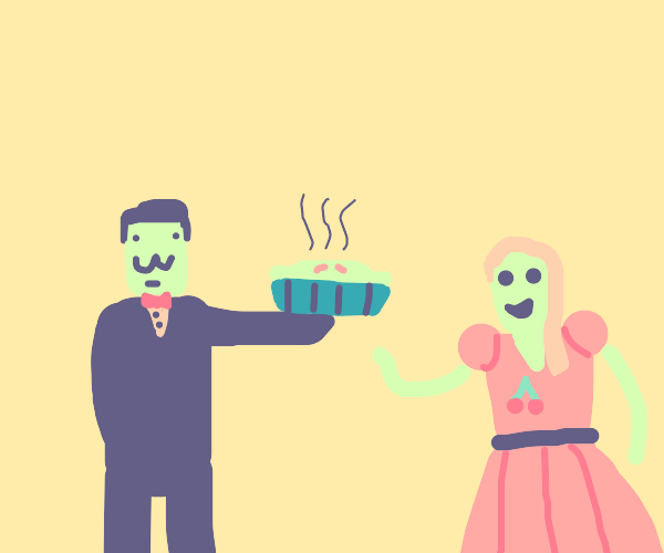Butler gives berry pie to berry princess