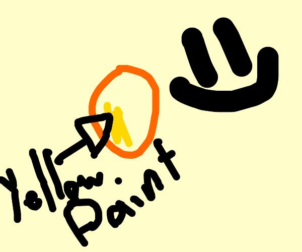 Paint on potato
