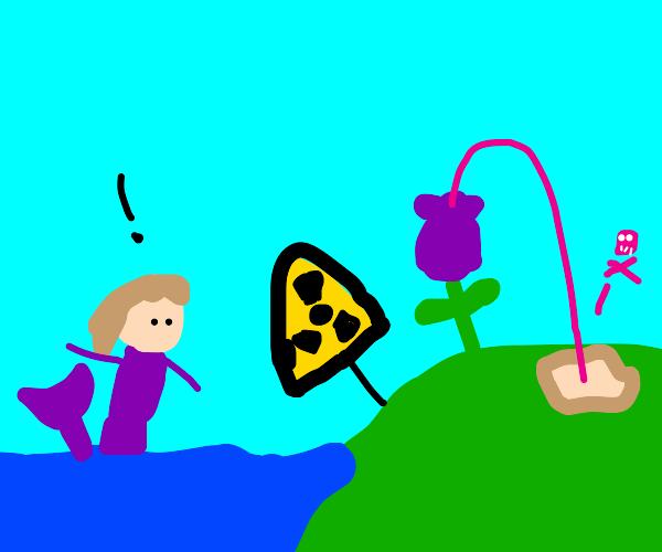 mermaid watchs nuclear plant spew toxic waste