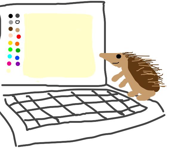 Hedgehog plays Drawception