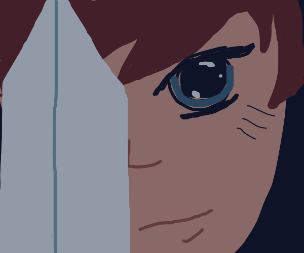 Anime character with sword
