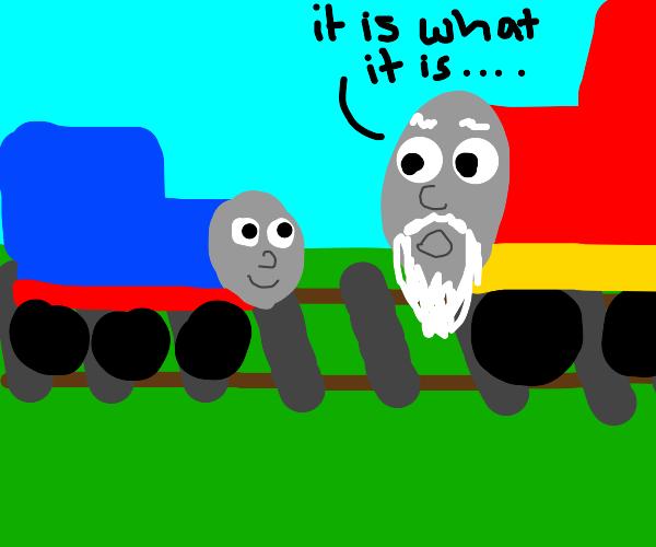 Thomas the train's grandpa explains life