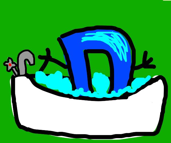 Drawception D takes a bath - $5 to see feet!