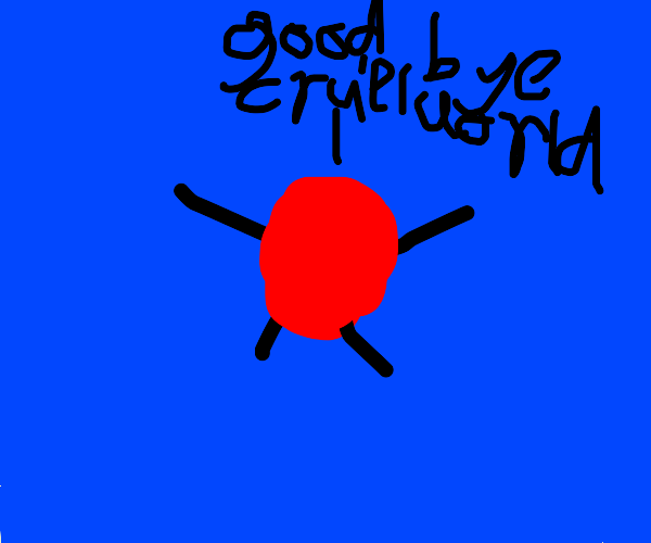 Red round guy sarcifices his life