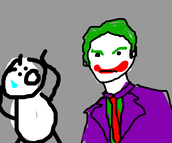 Dude scared of the joker