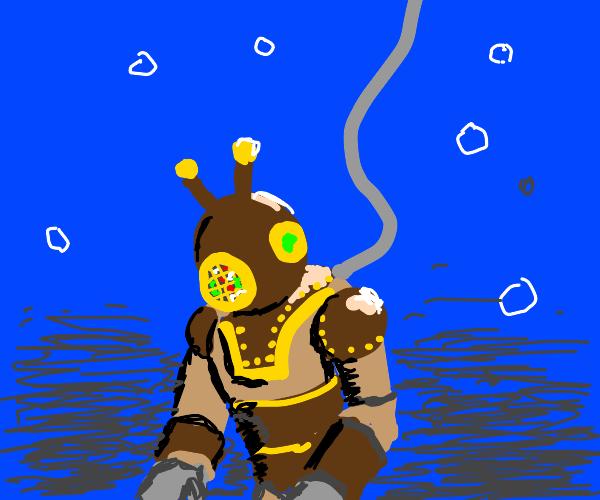 Sci-fi diving suit