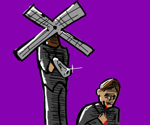 Windmill shoots a guy